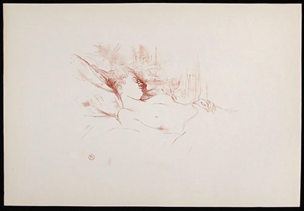 Le Sommeil, de l'album «Toulouse-Lautrec, douze lithographies»