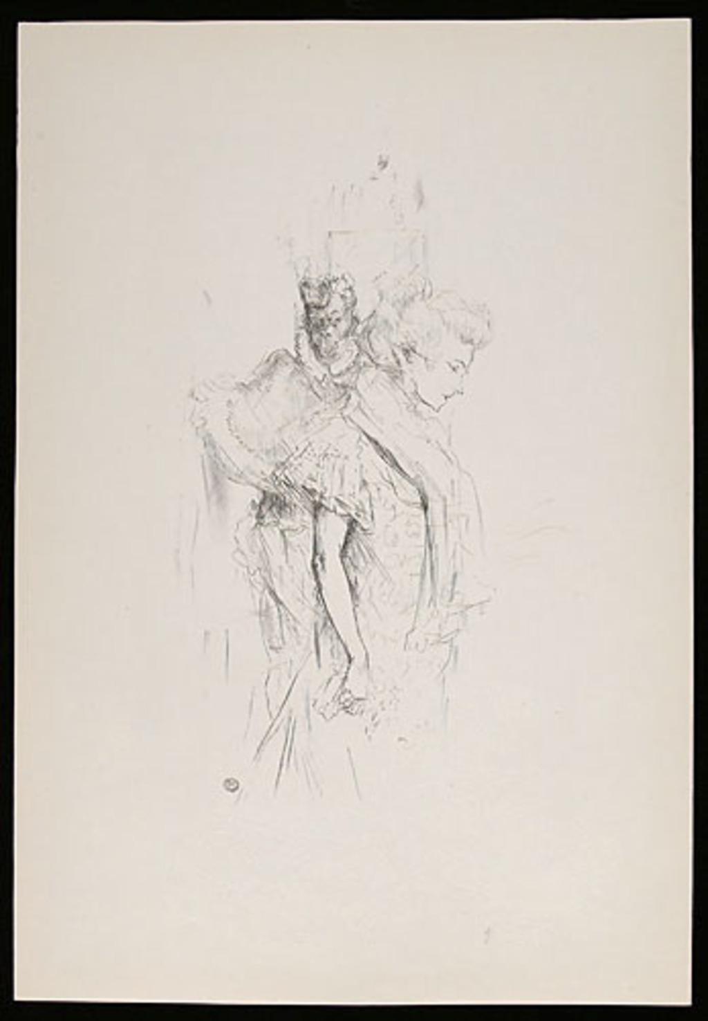 Blanche et Noire, de l'album «Toulouse-Lautrec, douze lithographies»