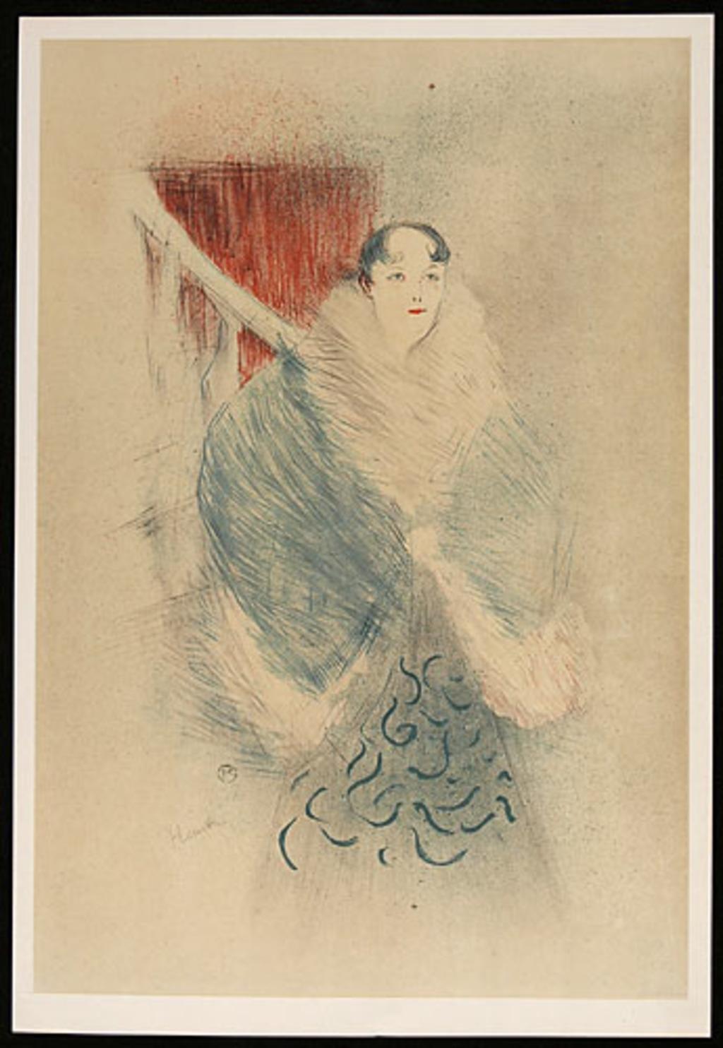 Elsa la Viennoise, de l'album «Toulouse-Lautrec, douze lithographies»