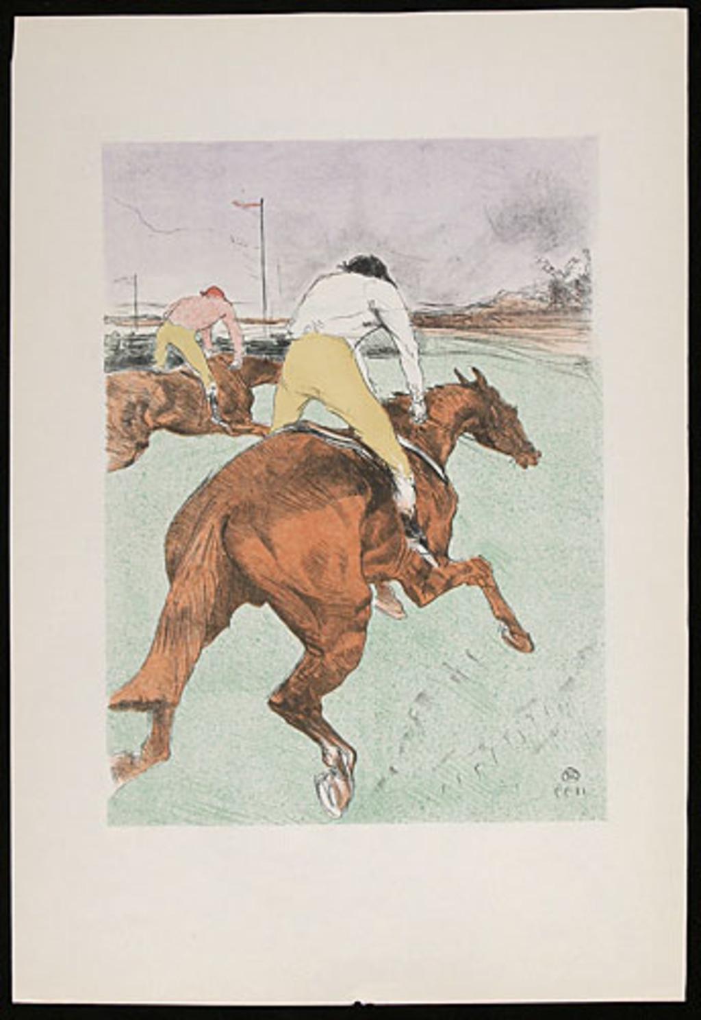 Le Jockey, de l'album «Toulouse-Lautrec, douze lithographies»