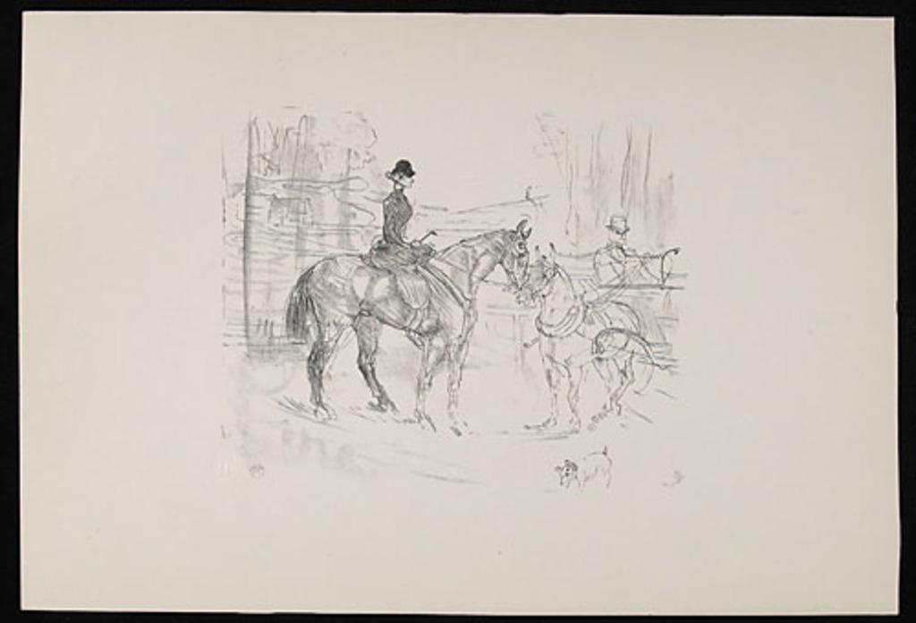 Amazone et tonneau, de l'album «Toulouse-Lautrec, douze lithographies»