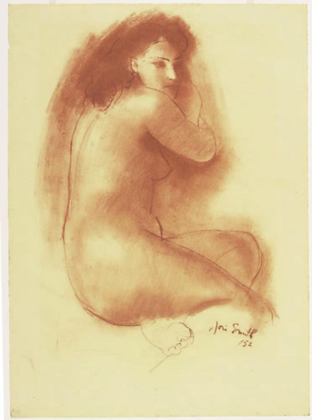 Femme nue accroupie