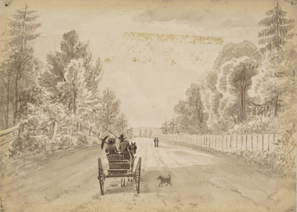 Sur la route du Bourg-Royal