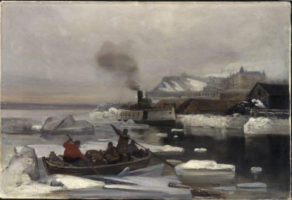La Traversée du fleuve en hiver