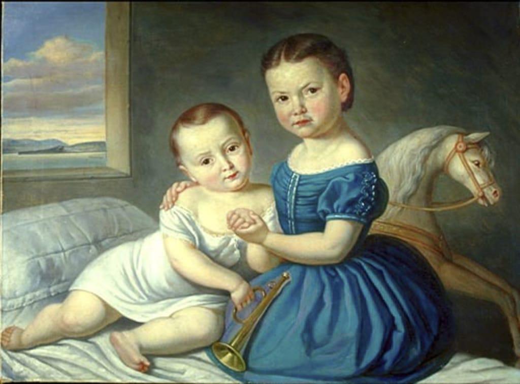 Gustave et Hermine Hamel, enfants de l'artiste