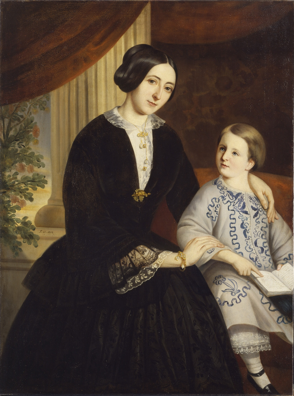 Madame Cyrice Têtu, née Caroline Dionne, et son fils Amable