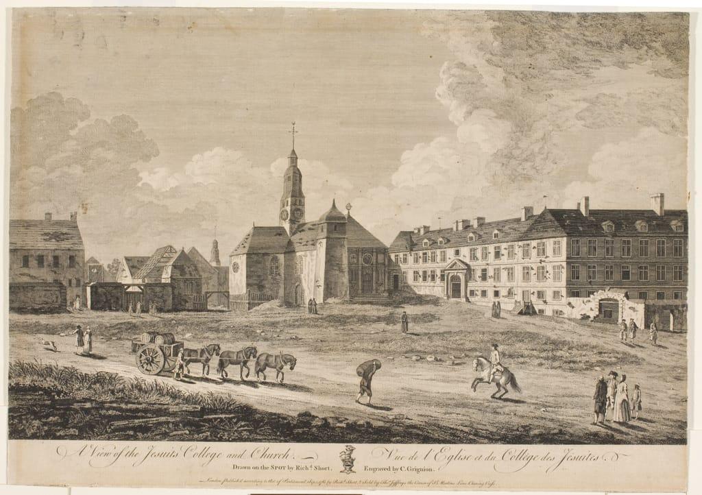 Vue de l'église et du Collège des Jésuites
