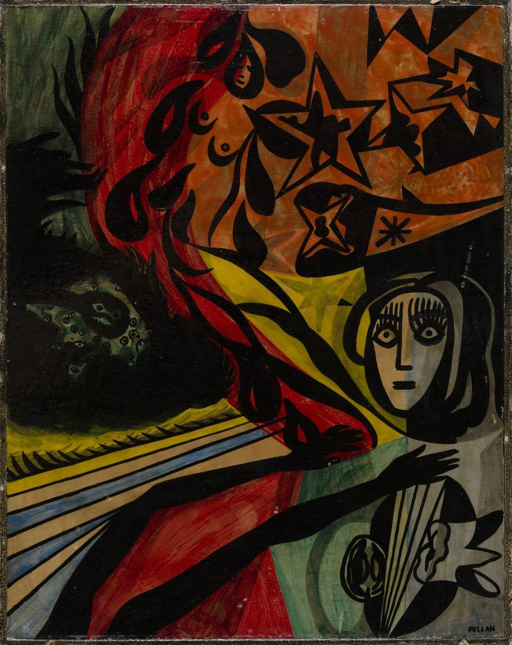 « Ta forme monte comme la blessure du sang ». Illustration pour « Les Îles de la nuit » d'Alain Grandbois