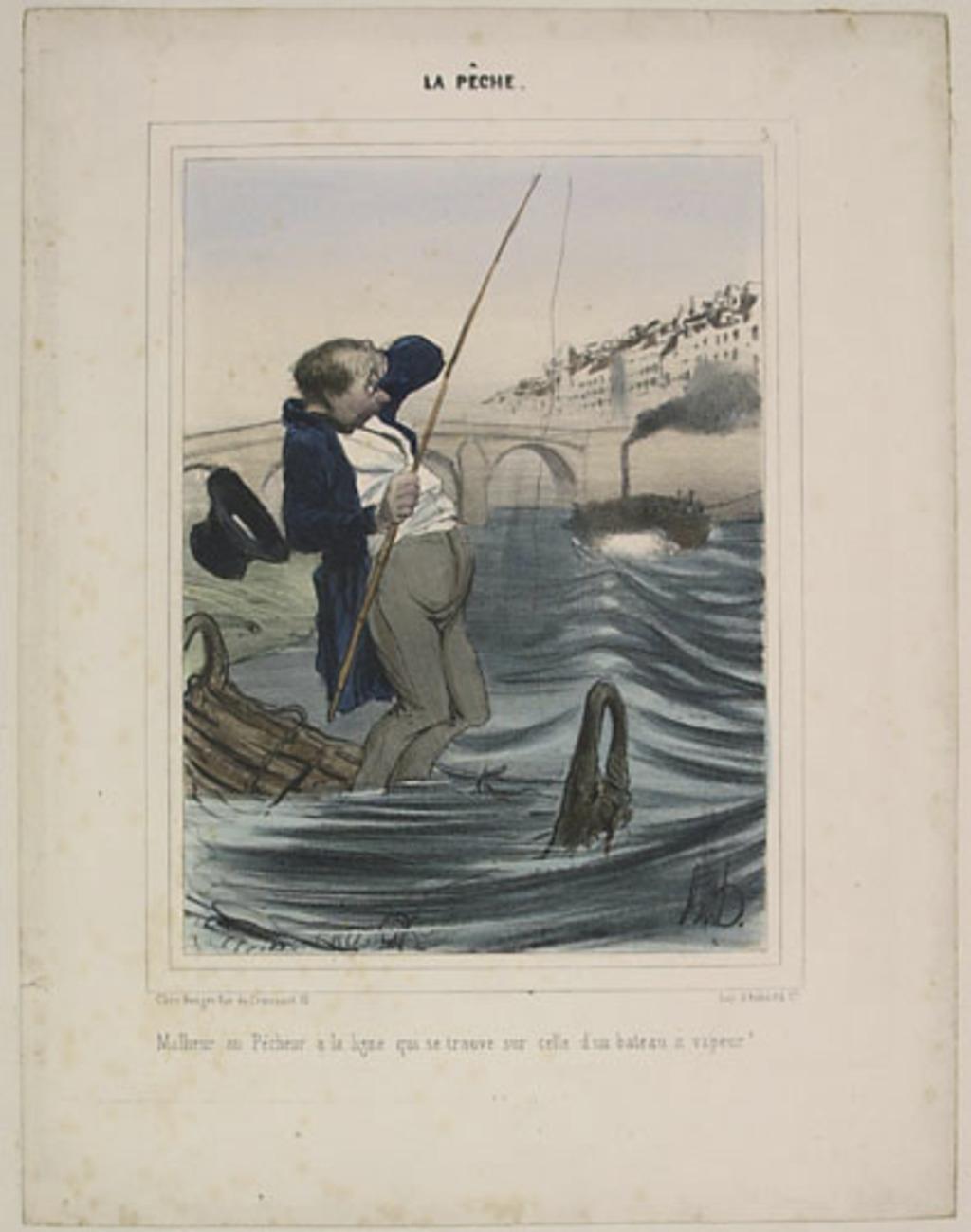 Malheur au pêcheur à la ligne qui se trouve sur celle d'un bateau à vapeur !