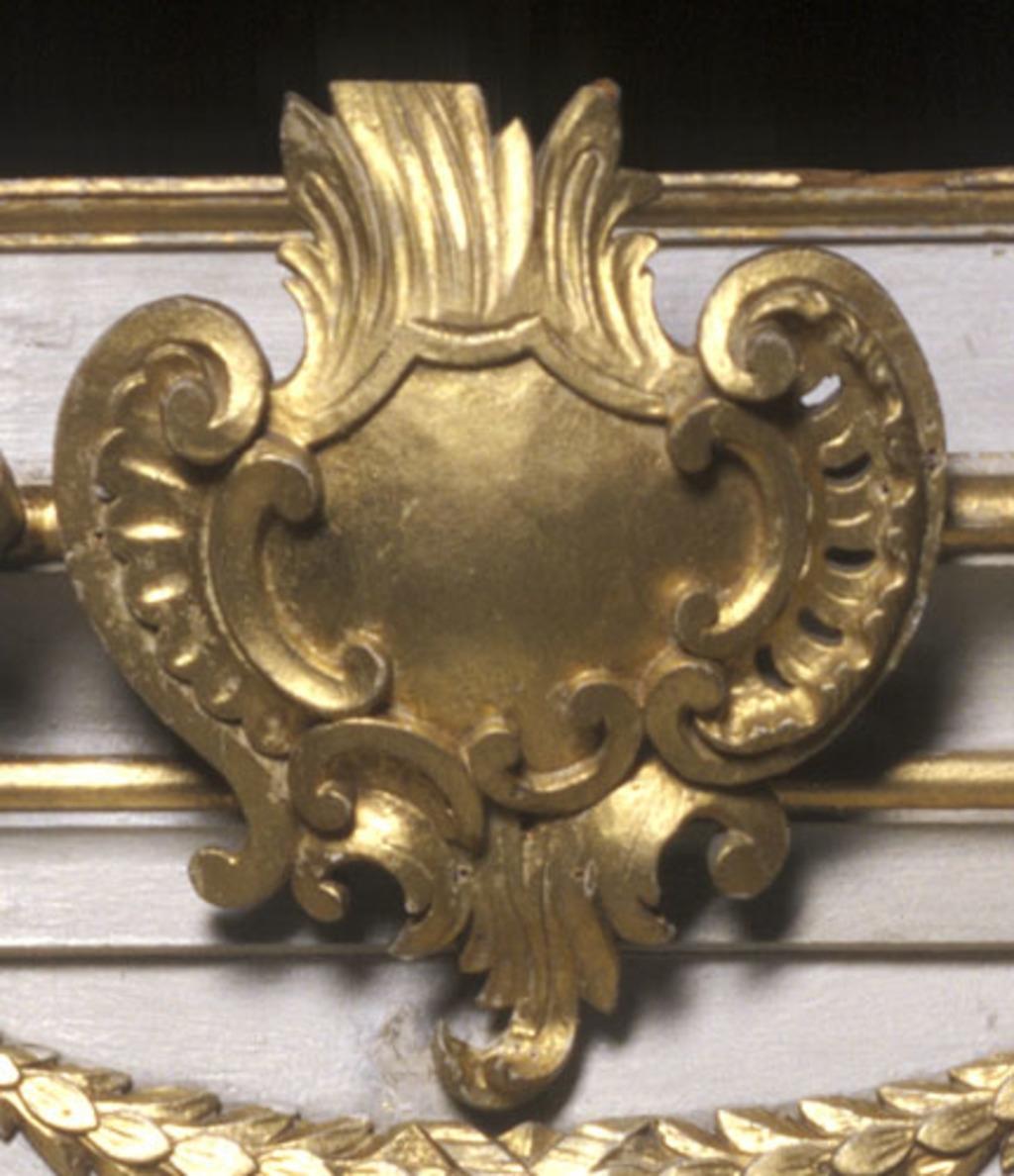 Cartouche du tabernacle de l'autel du Bon-Pasteur de Saint-Martin de Laval