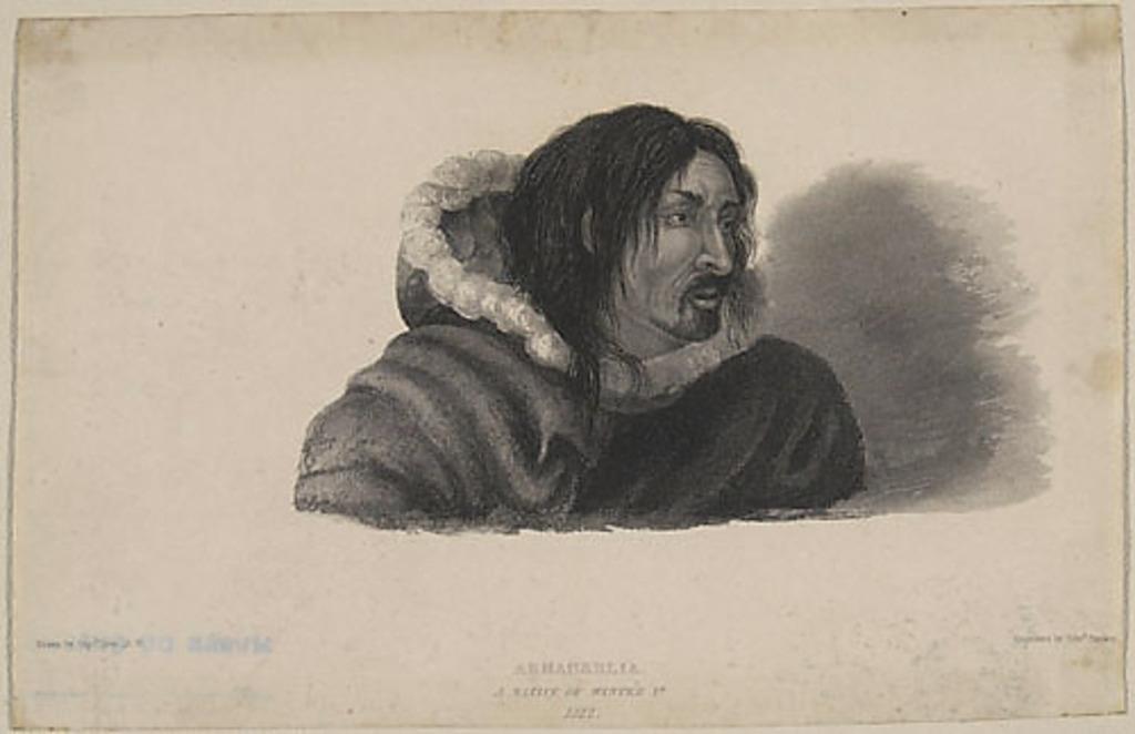 Arnaneelia, un habitant de Winter, 1822, extrait de l'ouvrage Journal of a Second Voyage for the Discovery of a North-West Passage from the Atlantic to the Pacific... de William Edward Parry
