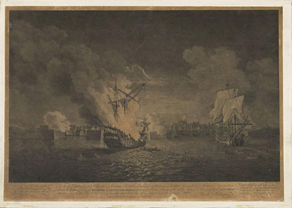 Prise du Prudent et incendie du Bienfaisant dans le port de Louisbourg, le 26 juillet 1758