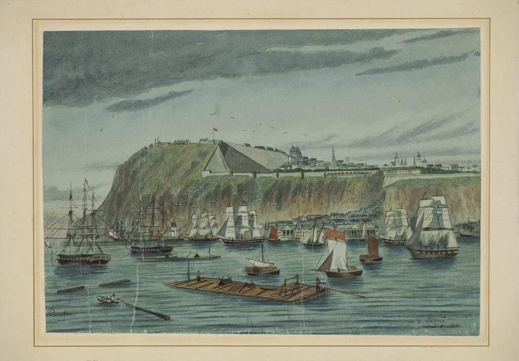 Québec vu du fleuve Saint-Laurent