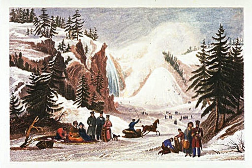 Le Cône de glace de la chute Montmorency