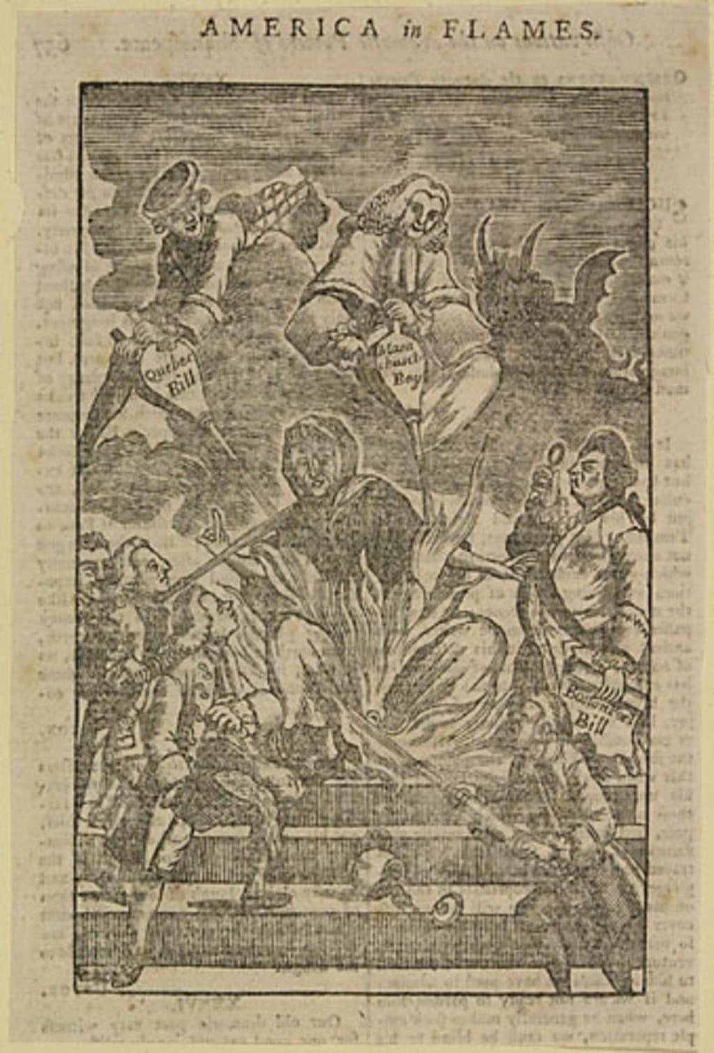 L'Amérique en flammes, extrait du Town and Country Magazine, vol. VI