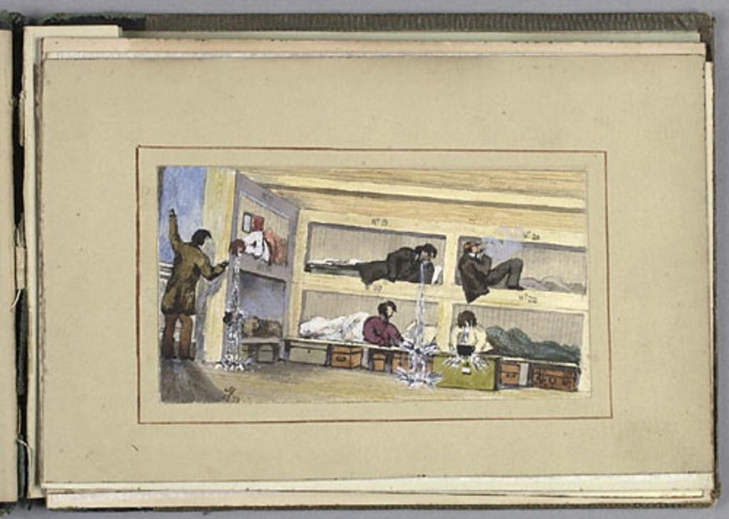 Passagers ayant le mal de mer, du carnet The Canadas