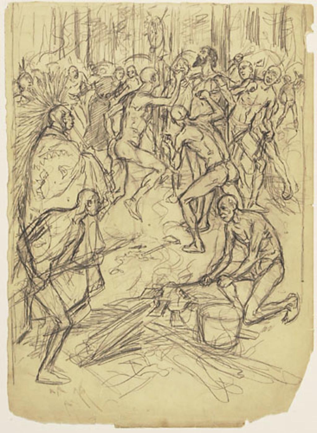 Martyre des pères Brébeuf et Lalemant