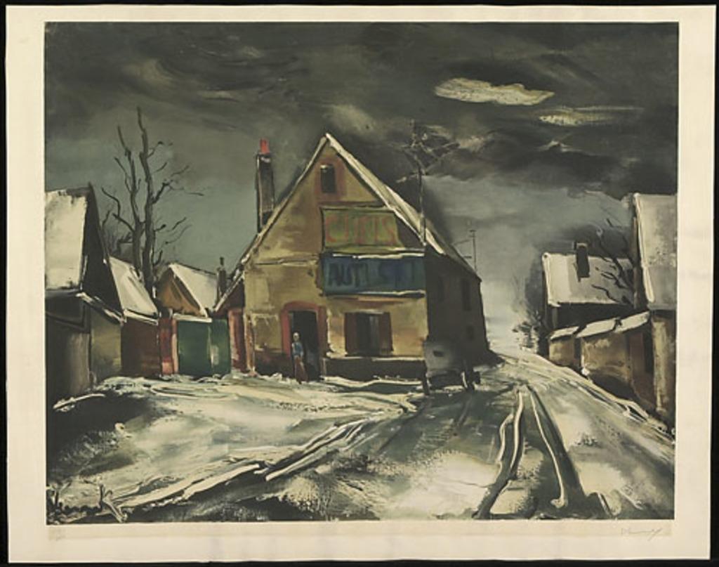 Village sur la neige