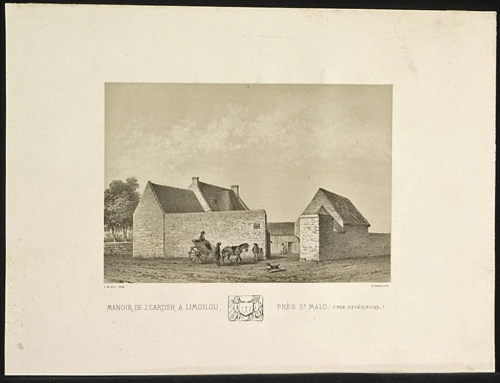 Manoir de Jacques Cartier à Limoilou, près de Saint-Malo (vue extérieure), de l'album Canada. Dessins historiques