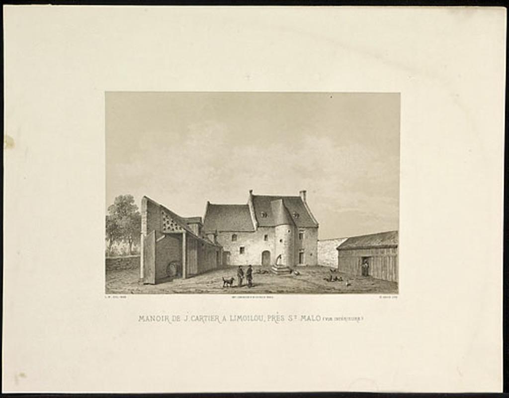 Manoir de Jacques Cartier à Limoilou, près de Saint-Malo (vue intérieure), de l'album Canada. Dessins historiques