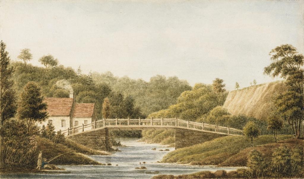 Pont sur la rivière du Sault à la Puce, près de Château-Richer