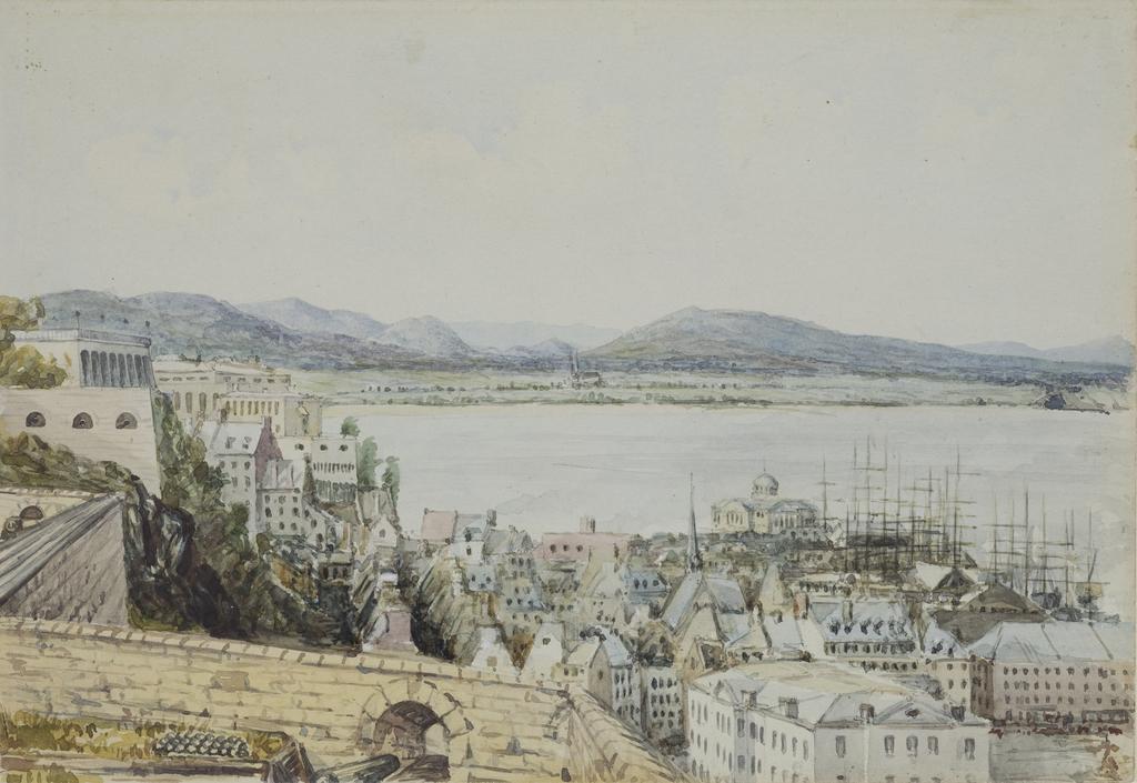 La Basse-Ville de Québec vue de la batterie