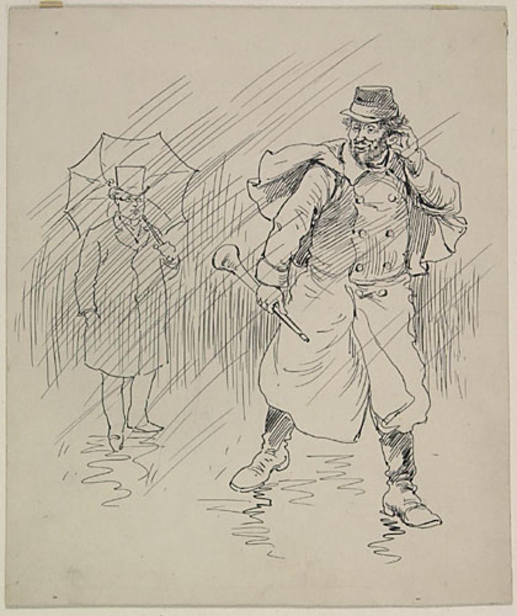 « Comment, c'est toi, Olivier ! ». Illustration pour Chouinard, conte de Louis Fréchette