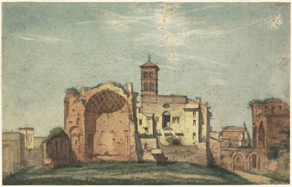 Vue du forum romain, vers le nord-ouest