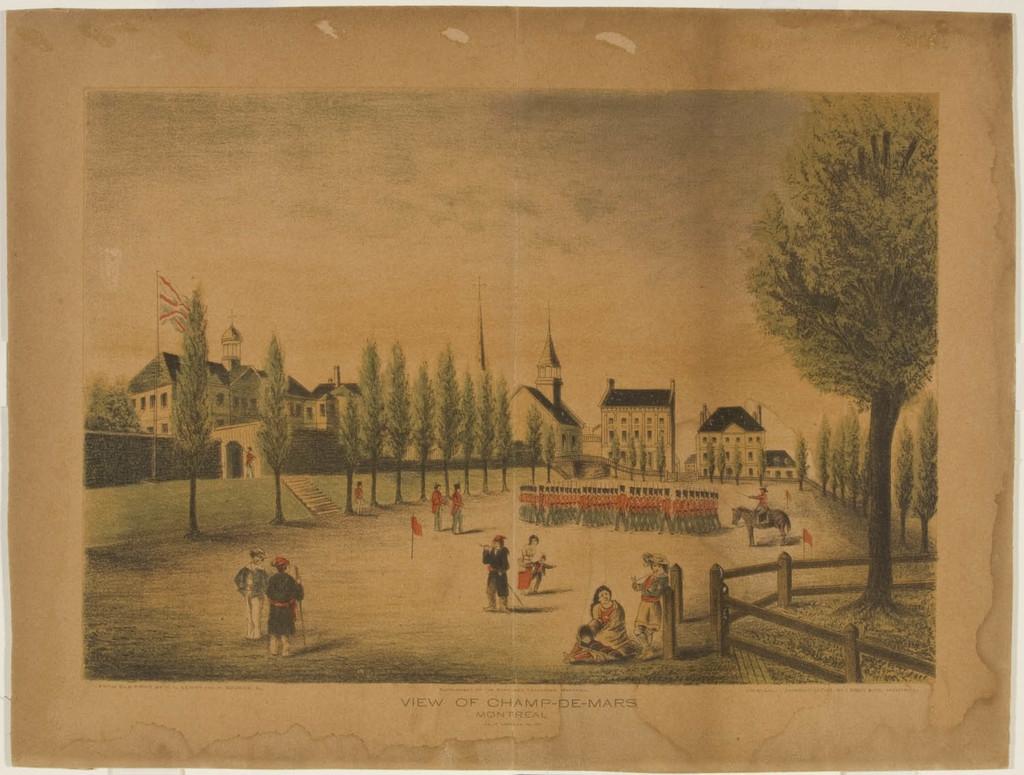 Vue du Champ-de-Mars à Montréal, tel qu'il apparaissait en l'année 1830