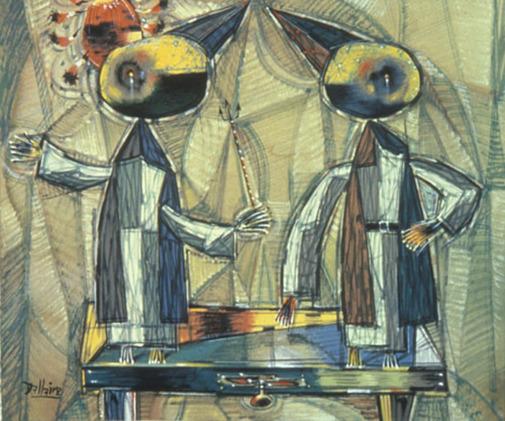 Deux Moines dans la caisse du procureur de la communauté