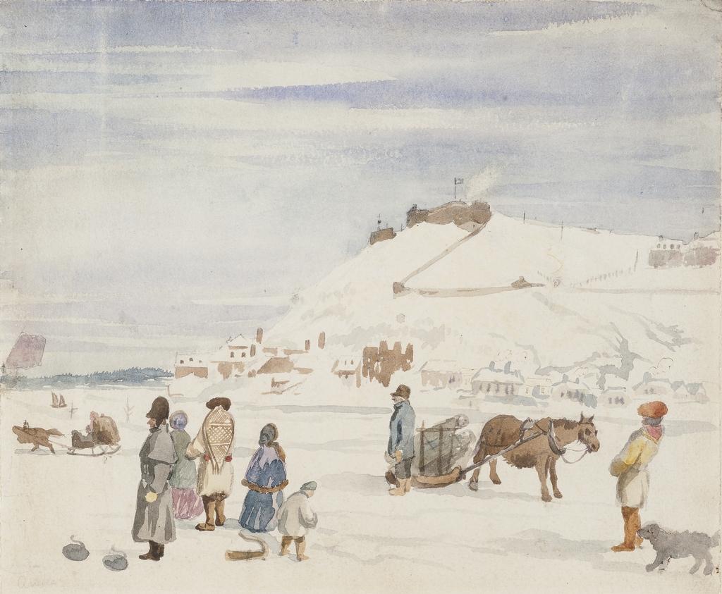 La Citadelle de Québec vue du pont de glace à la pointe à Carcy