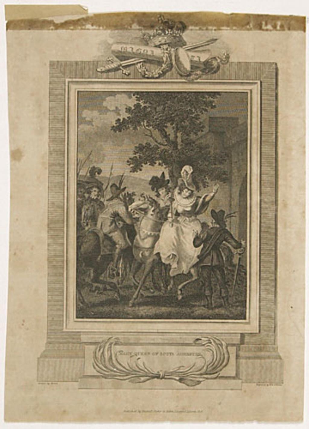 Marie, reine d'Écosse, en état d'arrestation, extrait de l'ouvrage Histoire de l'Angleterre de Theophilus Camden
