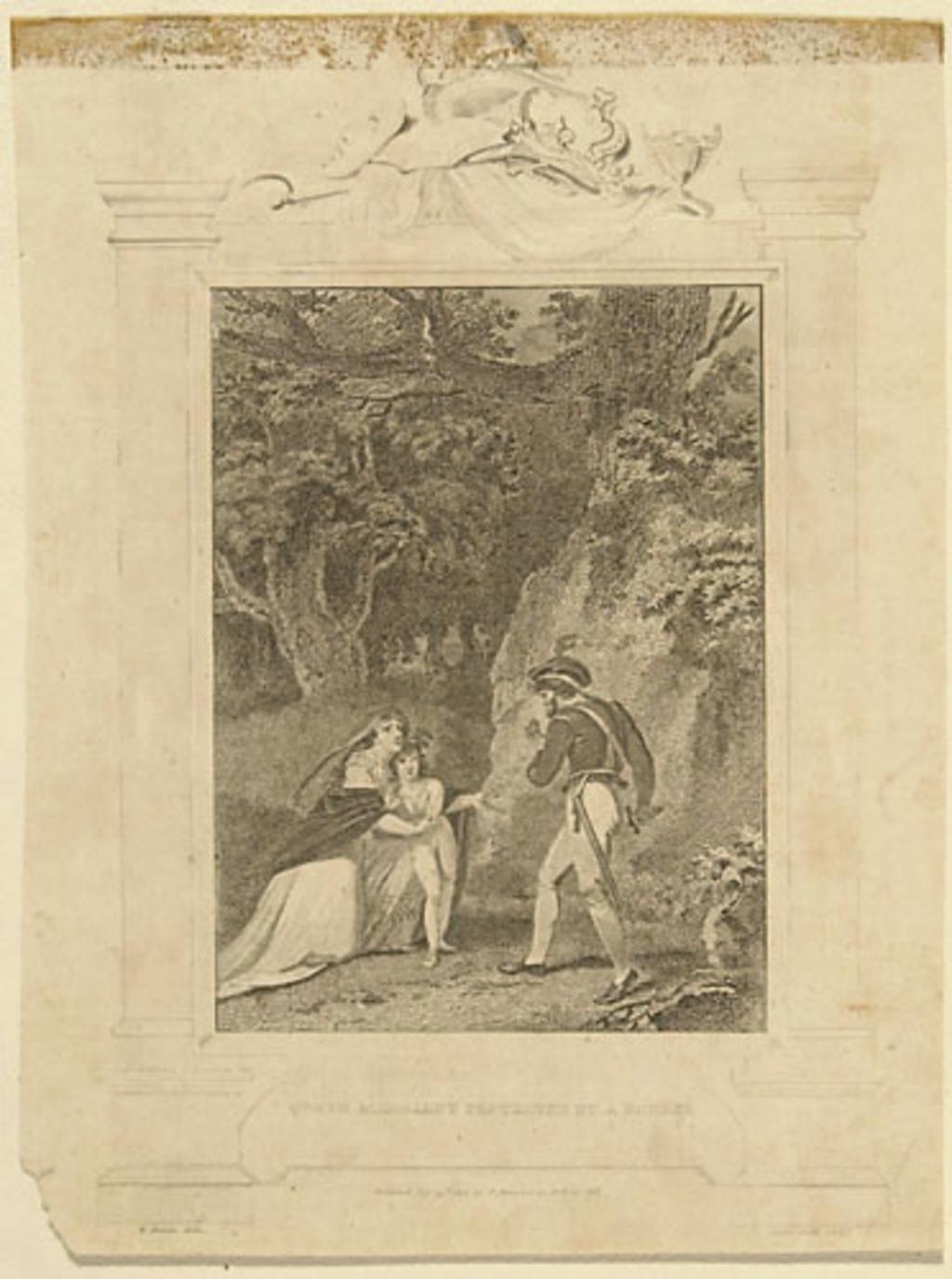 La Reine Margaret protégée par un voleur, extrait de l'ouvrage Histoire de l'Angleterre de Theophilus Camden