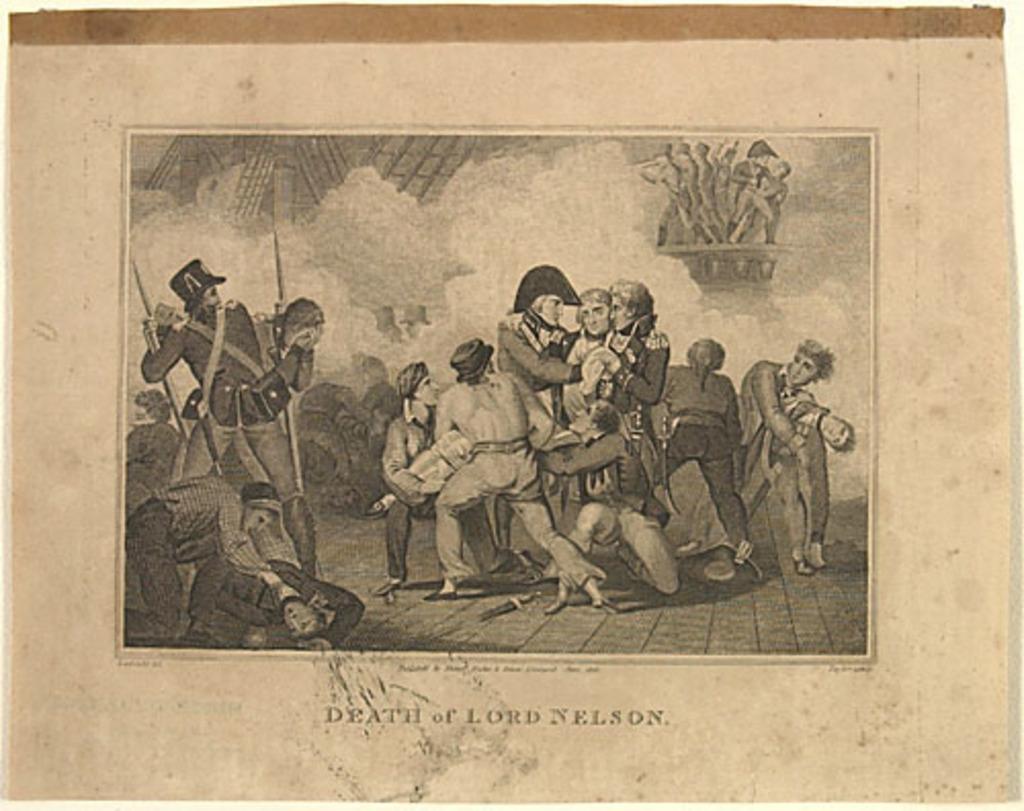 Mort de lord Nelson, extrait de l'ouvrage Histoire de l'Angleterre de Theophilus Camden