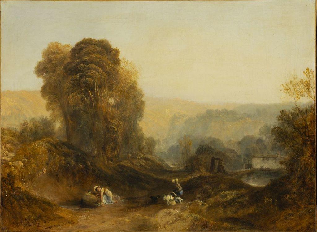 Scène dans le Derbyshire. Les Hauteurs d'Abraham, Matlock Bath