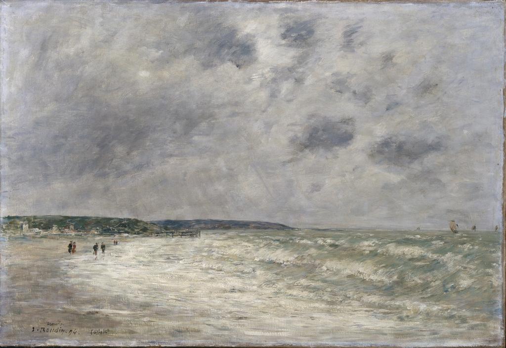 Marée montante à Deauville