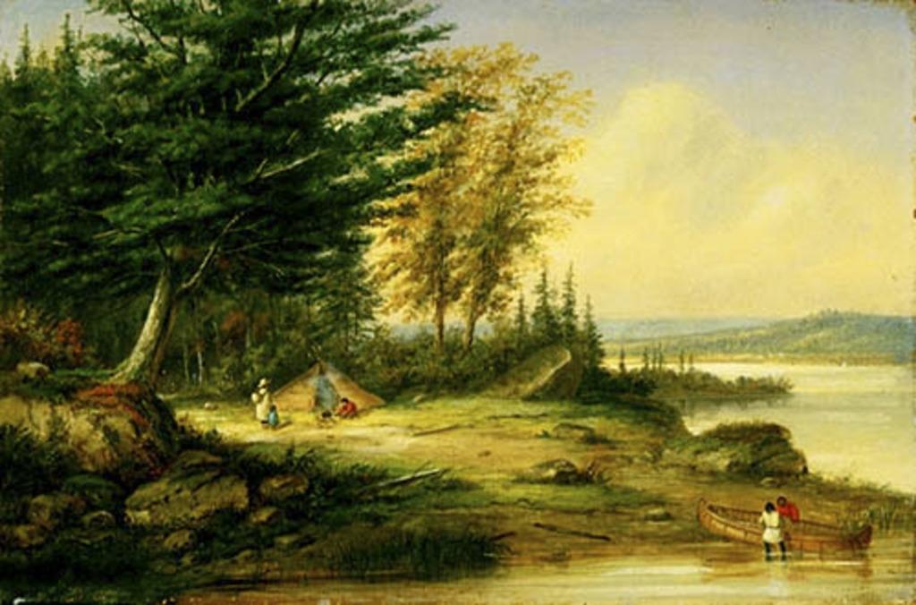 Campement indien au lac Saint-Charles