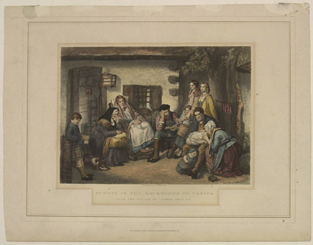Le Dimanche chez les colons canadiens