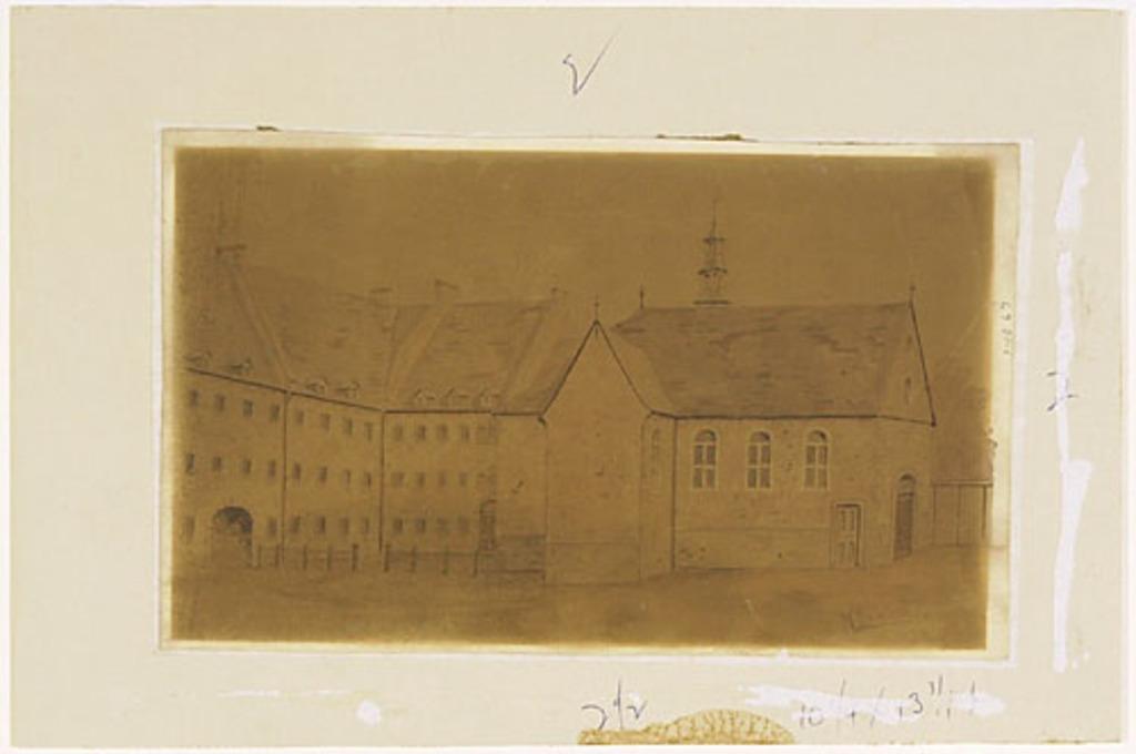 Ancienne Chapelle de la Congrégation de Notre-Dame à Montréal et une partie du couvent
