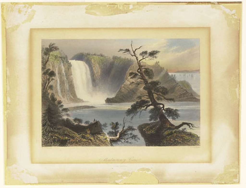 L'Anse de Montmorency, près de Québec, extrait du Canadian Scenery Illustrated, vol. I