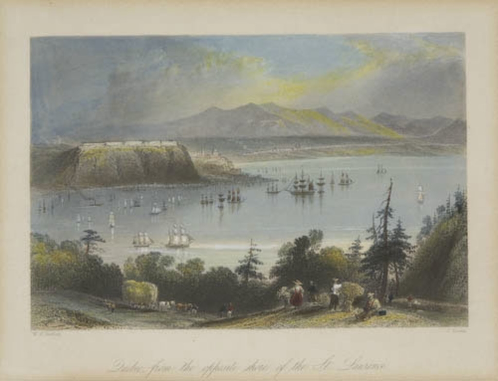 Québec vu de la rive opposée du Saint-Laurent, extrait du Canadian Scenery Illustrated, vol. I