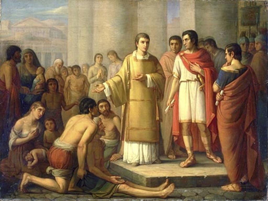 Saint Laurent présentant les pauvres au préfet de Rome