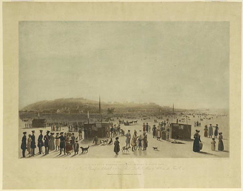 Le Pont de glace entre Québec et la pointe De Lévy, en 1831