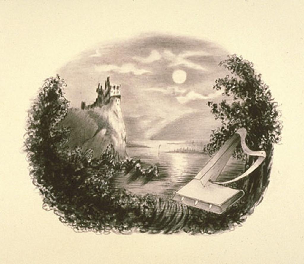 Paysage fantaisiste au clair de lune