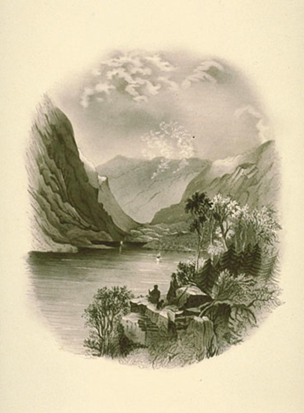 Couple dans un paysage de montagne