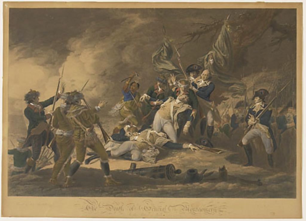La Mort du général Montgomery à la bataille de Québec, décembre 1775