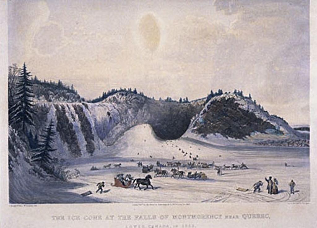 Le Cône de glace de la chute Montmorency, près de Québec, en 1853