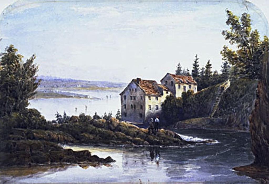 La Rivière Montmorency en amont de la chute, vue du pont