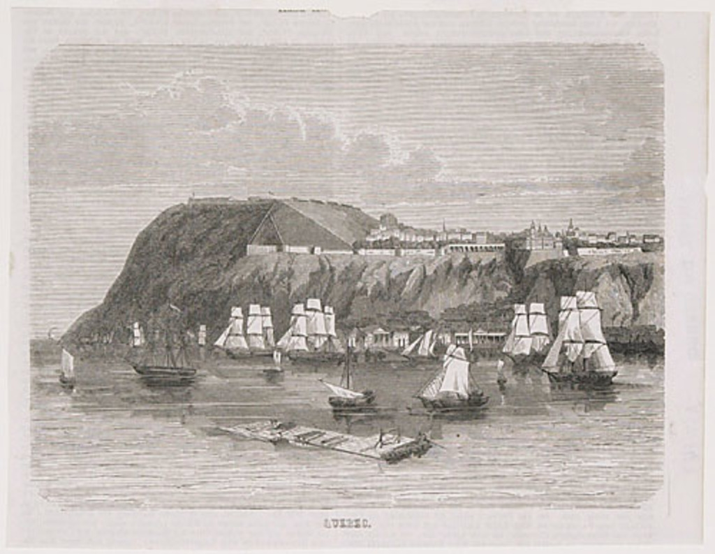Québec vu du fleuve Saint-Laurent, extrait d'un journal