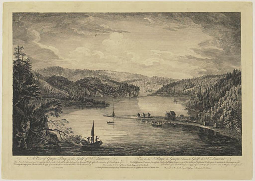 Vue de la baie de Gaspé dans le golfe du Saint-Laurent